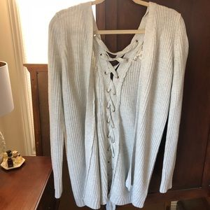Cardigan Sweater with back tie detail